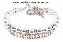 mother's name bracelets - Bali Silver with Accent Strand