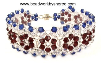 Click Image To Enlarge Patriotic Fl Swarovski Crystal Bracelet Jewelry